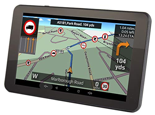 Aguri Truck TX720 DVR 7' truck sat nav with built-in Dash Cam, Wi-Fi and UK & European mapping