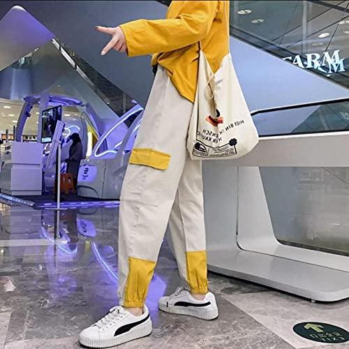 haochenli188 Hot Big Pockets Cargo Pantalones Mujeres De Cintura Alta Sueltos Streetwear Pantalones Holgados Pantalones TáCticos Hip Hop Pantalones De CháNdal Asiansizel 1