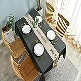 Mantel Simple De Estilo Nórdico para El Hogar, Impermeable Y Anti Escaldado, Mantel Rectangular para Mesa De Centro, Adecuado para Cafés, Restaurantes