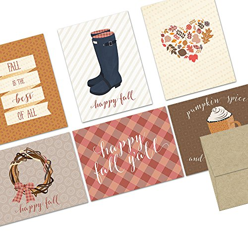 Note Card Cafe Autumn Cards with Kr…