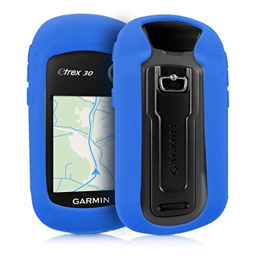 kwmobile Funda Compatible con Garmin eTrex 10/20/30/201x/209x/309x - Carcasa de Silicona para navegador GPS - Cover Azul