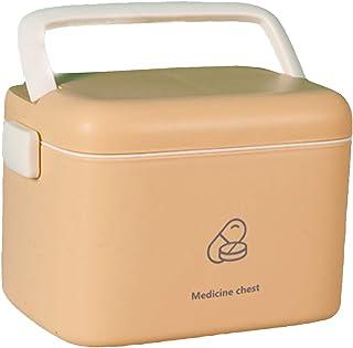 AIWEIYER Wielofunkcyjne pudełko medyczne przenośne, diagnostyczne pudełko do przechowywania pierwszej pomocy, pudełko do p...