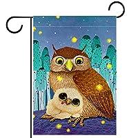 庭の装飾の屋外の印の庭の旗の飾り甘いフクロウの母親は恐ろしい夜に抱擁します テラスの鉢植えのデッキのため