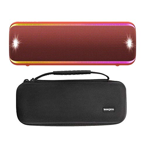 Sony XB32 Extra Bass Portable Bluetooth Speaker (Black) with Travel Hard Case Bundle