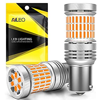 1156 BAU15S Led Bulb 3200K Amber Yellow Super Bright 4000LM PY21W 7507 5009 1156PY RY10W LED Bulbs CANBUS Error Free for Turn Signal Lights Pack of 2