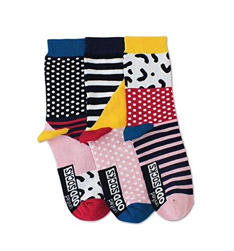 United Oddsocks - Adele - Damen - Gr. 39-42 - 3 Socken = 3 Kombis