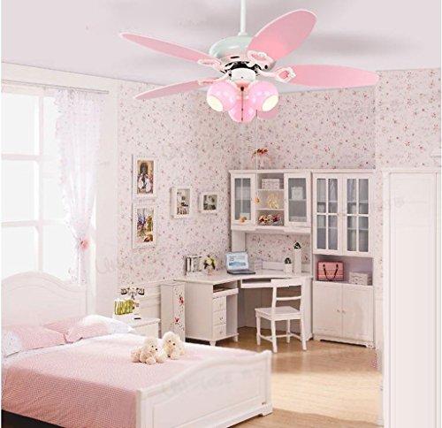 Lily's-uk Love Ventilateur de plafond pour chambre d'enfants Princess Girl Chambre à coucher Lustre avec ventilateur