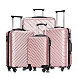 Apelila 4 Piece Luggage Sets,Travel Suitcase Spinner Hardshell...