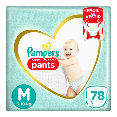 Fralda Pampers Pants Premium Care M 78 Unidades, Pampers