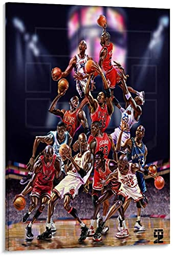DINGDONG ART Imprimir En Lienzo 60 * 90cm Sin Marco Famoso Baloncesto Estrella Michael Jordan Arte póster Decorativo Arte de Pared Carteles de Sala de Estar Dormitorio