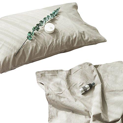 Black Temptation Moderne Haute qualité coton lavé 2 Pack Standard taies d'oreiller gris vert # 212
