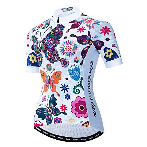 Maillot de ciclismo para mujer con cremallera completa para mountain bike mountain...