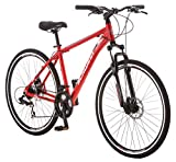 Schwinn GTX 2.0 Comfort Adult Hybrid Bike, Dual Sport Bicycle, 18-Inch Aluminum Frame, Red