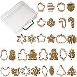 Wilton Copper Cookie Cutter Set with Storage Case, 16-Piece