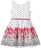 HapHappy Girls Mädchen Kleid mit Print, Gr. 134, Rosa (pink 36)