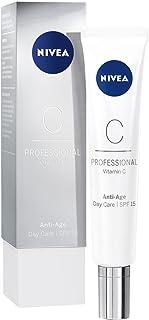 NIVEA PROFESSIONAL Vitamin C crema de día con protector solar 15 crema facial antiedad para reducir los signos de la eda...