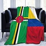 Coperta morbida,Coperta super morbida, confortevole, traspirante e calda Dominica Colombia Flag Cute Throw Blanket Coperta di flanella Coperta ultra morbida in micro pile per divano letto -50x40_inch