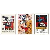 N / A FranzöSisch Le Corbusier Ausstellung Poster Vintage