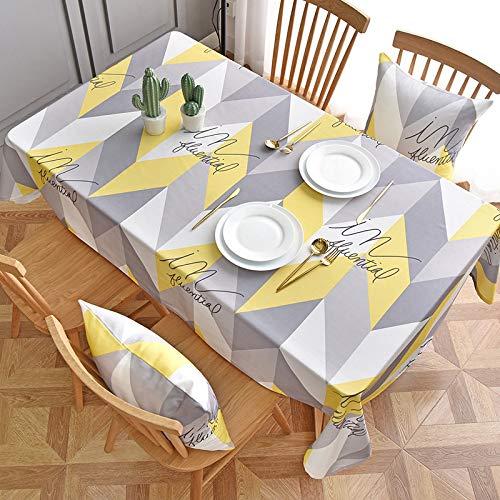 Baumwolle Tischdecken im Stil, Tischdeckenbezug Leinen Waschbar Tischdecke für,110x160cm