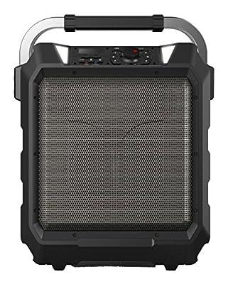 Monster Rockin? Roller | 80 Watts, 80 Hour High Performance Water Resistant Outdoor/Indoor Wireless Bluetooth Speaker, Night View LED (Black)