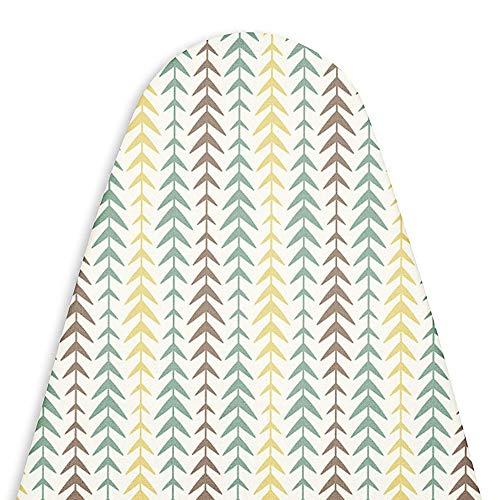 Encasa Homes di Ricambio Copri ASSE da Stiro con Imbottitura in Feltro da 3 mm, Coulisse di serraggio (Si Adatta a schede Standard Medie di 112 x 33 cm) Riflettente al Calore, Stampato - Multiarrow