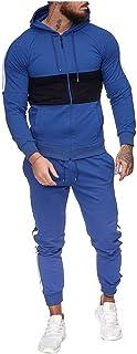 Tuta Sportiva Passion, Felpa e Pantalone Lungo, per Uomo Imposta Tuta Sportiva Tuta Splicing Stampa con Cerniera
