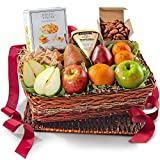 A Gift Inside Organic Nuts, Cheese & Fruit Basket