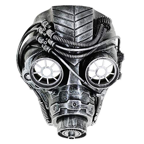 Ubauta Steam Punk Phantom der Oper Vintage mechanische Männer venezianische Maske für Maskerade / Party / Ball Prom / Halloween / Karneval (Silber Punk Gas Maske)