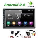 Android 9.0 Autoradio avec Navigation, Stéréo Lecteur Double Din à écran Tactile 7 Pouces LEXXSON avec Support GPS Bluetooth AUX/SD/USB MirrorLink