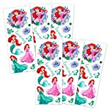 Disney The Little Mermaid Stickers Party Favors for Kids Toddlers ~ 6 Sheets of Ariel Stickers (Party Supplies Pack)