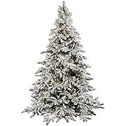 "Vickerman 25315 - 12' x 87"" Flocked Utica Fir 1,850 Warm White Italian LED Lights Christmas Tree (A895191LED)"