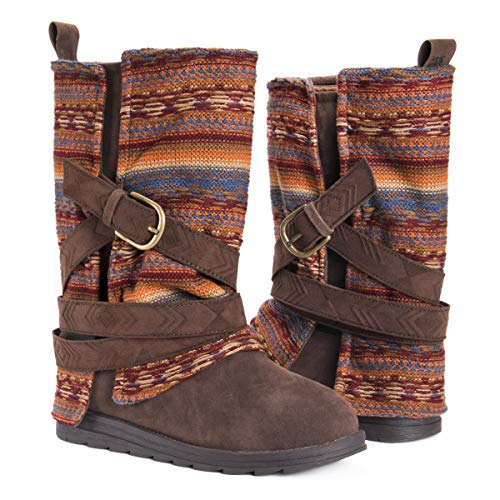 MUK LUKS Women's Nikki Boots Fashion, Terra Cotta, 7