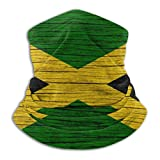 Jamaica Wooden Texture Jamaican Flag Bandana Face Dust Mask for Women Men Half Headband Head Wrap Scarf Balaclava Clothes Dress Cap Clothing Accessories Head Wrap Apparel