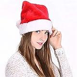 2 gorros de Papá Noel de felpa de Duoguan, para adultos y niños, adorno de Navidad