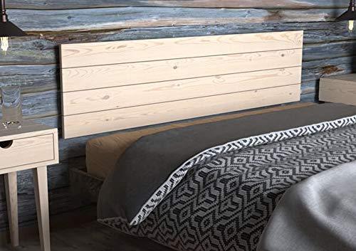 LA WEB DEL COLCHON - Cabecero de Madera Rústico Vintage para Cama de 180 (190 x 44 cms.) Crudo sin Pintar | Cabeceros Madera | Dormitorio Matrimonio | Cabezal Cama |Estilo nórdico