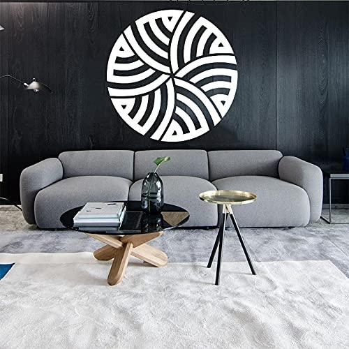 Caligrafía árabe Alá diseño vinilo hogar tallado pared pegatina extraíble pared arte papel tapiz Mural decoración del hogar A7 30x30cm