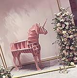 Zzaoxin Estanterías Estantería, estantería Creativa con Forma de Unicornio Estante para Libros con Forma de Animal Mobiliario de Moda Estante Decorativo-A 112x35x100cm (44x14x39)