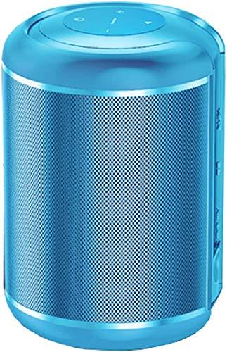 TIANYOU Altavoz Bluetooth de Metal Portátil, Altavoz Inalámbrico, Sonido Estereo de Rango Completo, Batería de Litio Incorporada 2200Mah, Compatibilidad Amplia, Azul Vida de batería