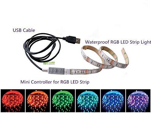 Preisvergleich Produktbild Mehrfarbig RGB 50cm 50cm LED Streifen Licht LED-TV Hintergrund Beleuchtung-Kit With USB Kabel Generisches RU50