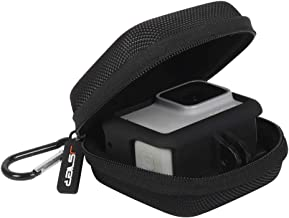 Carrying Case for GoPro Hero 8/7/(2018) 6/5/4/3,DJI Osmo Action JSVER go pro Hero case Hard Shell Travel Case Storage Bag for DJI Osmo Action, AKASO, Campark, YI Action Camera and More - Black