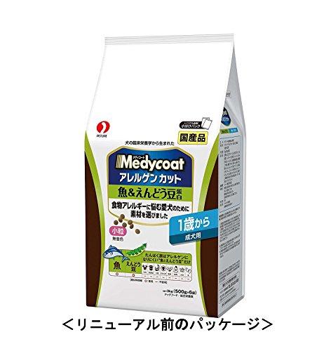 メディコートアレルゲンカット魚&えんどう豆蛋白1歳から成犬用3kg(500g×6袋)