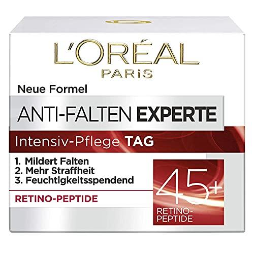 L\'Oréal Paris Feuchtigkeitspflege für das Gesicht, Anti-Aging Creme zur Minderung von Falten mit Retino Peptiden, Für eine straffere und weichere Haut, Anti-Falten Experte, 1 x 50 ml