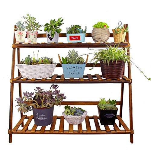 Chairs FL estantes para Plantas/estanteria Jardin Madera Maciza Plegable carnosa Bonsai Flor...