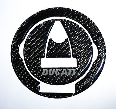 Ducati Diavel Panigale Monster Streetfighter S Real Carbon Fiber Fuel Tank Cap Filler Cover Pad trim