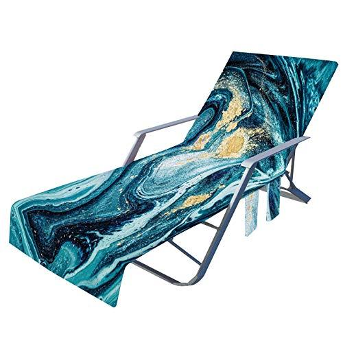 WUSHUN Funda para silla de playa, antideslizante, con bolsillos laterales, para el tiempo libre, playa, jardín, piscina, tomar el sol.
