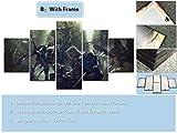 SINGLEAART Impresión De Lienzo 5 Paneles Cuadros,5 Piezas Pintura,Sala Estar Decoración,Modular Póster,Mural Abstracto,Regalo Cumpleaños,Animación del Juego Earth's Dawn,150Cm×80Cm,con Marco