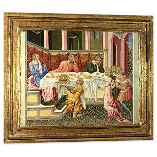 Kuader Der Chef von Johannes der Bäuerin bringt zu Helden Johannes von Paul -100 x 90 cm