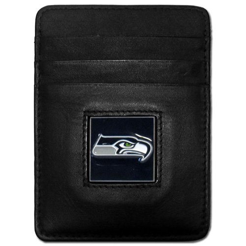 NFL Siskiyou Sports Fan Shop Seattle Seahawks Leder Jacob's Ladder Wallet One Size schwarz