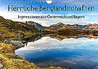 Herrliche Berglandschaften - Impressionen aus Oesterreich und BayernAT-Version (Wandkalender 2022 DIN A4 quer): Die schoensten Plaetze der Alpen (Monatskalender, 14 Seiten )