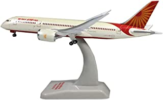 1/200 Scale Aircraft Alloy Model, Air India 787-8 Airliner with Stand Home Decorations And Gifts, 5.9Inch × 5.5Inch
